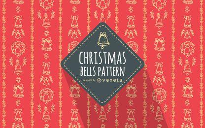 Rote Hand gezeichnetes Weihnachtsmuster