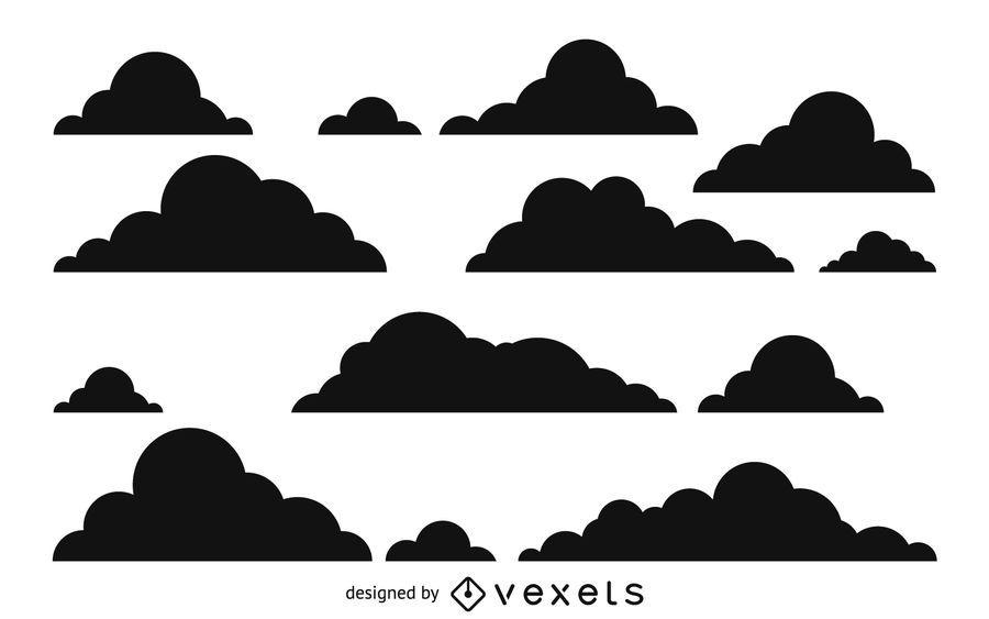 Padrão de silhueta de nuvem