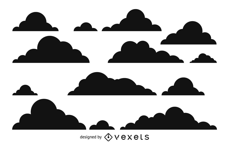 Patrón de silueta de nube