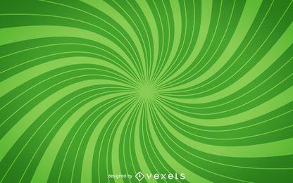 Fundo de starburst espiral verde