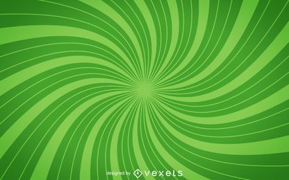 Green spiral starburst background