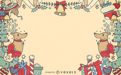 Natal elementos decorativos quadro