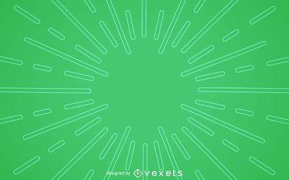 Plano de fundo verde starburst