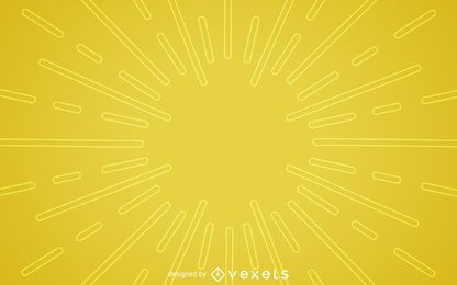 Flat yellow starburst background