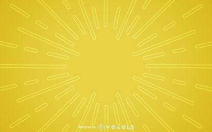 Fondo plano amarillo starburst