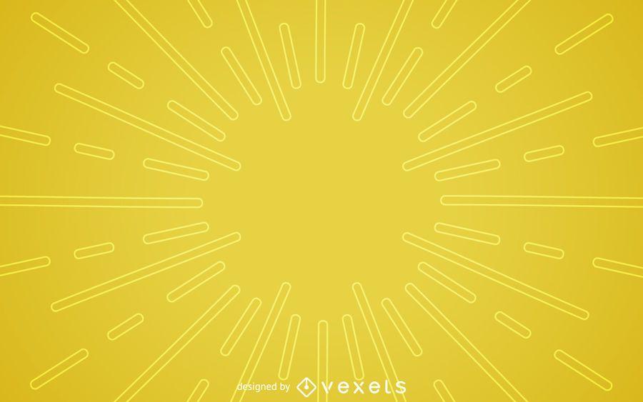 Flacher gelber starburst Hintergrund