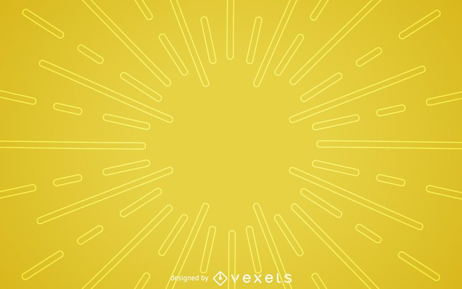 Flat yellow starburst background
