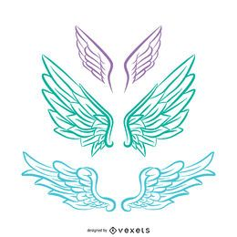 Pastel tones Angel wings illustration