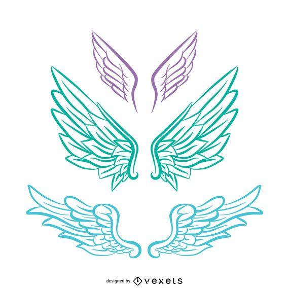 Pastel tones Angel wings illustration