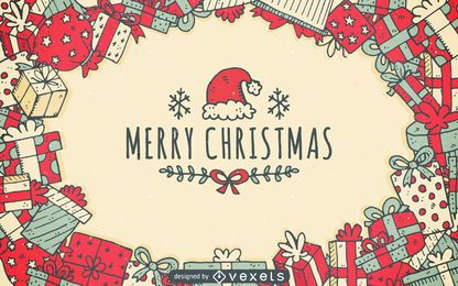 Christmas gifts background design