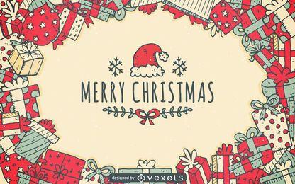 diseño de los regalos de Navidad de fondo