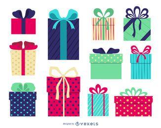 Ilustración de caja de regalo aislada