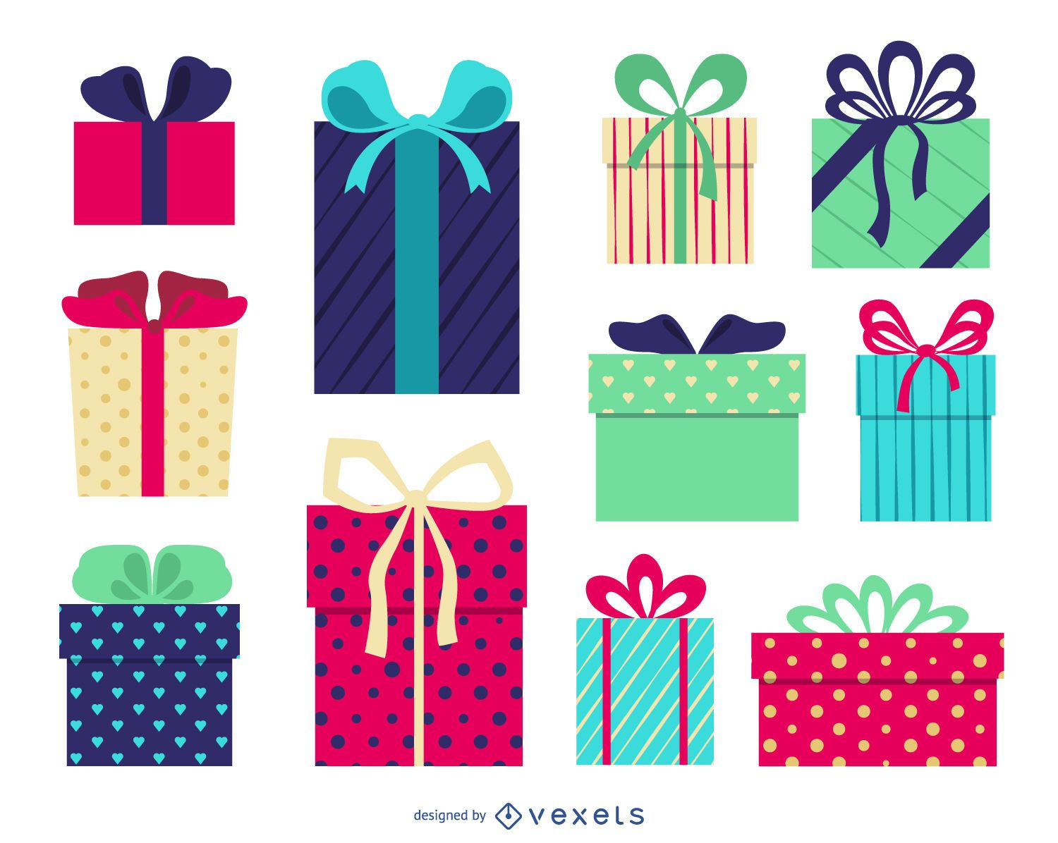 Gift box vector graphics to download isolated gift box illustration negle Image collections