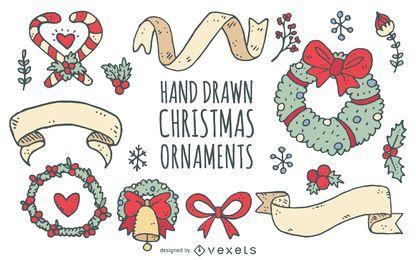 Guirnaldas de Navidad cintas doodle colección