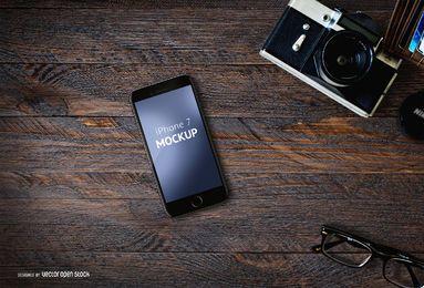 iPhone 7 Plantilla PSD con la cámara