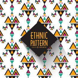 Fundo do teste padrão étnico Geometric