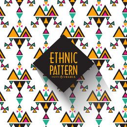 Fundo geométrico padrão étnico