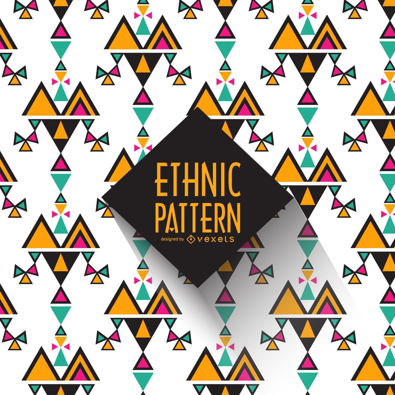 Fondo de patrón étnico geométrico
