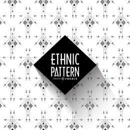 Patrón étnico blanco y negro