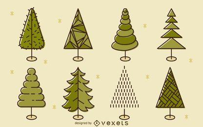ilustración Árbol determinado plana