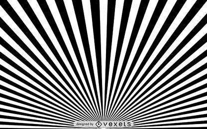Fundo preto e branco de starburst