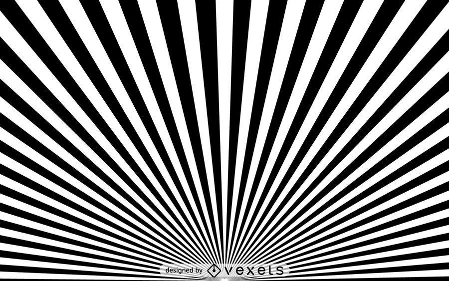 Fondo blanco y negro de starburst