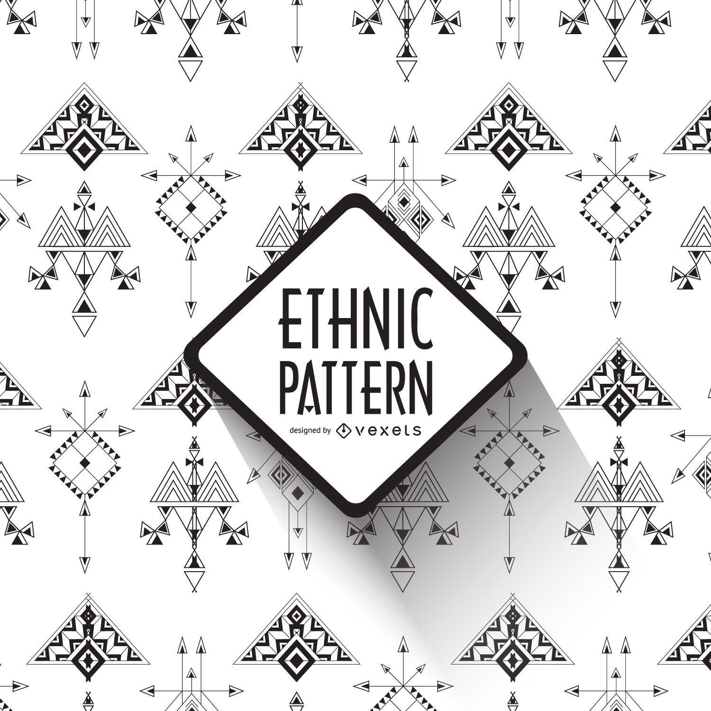 Geometric lines ethnic pattern