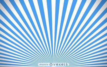 Fondo de starburst azul y blanco