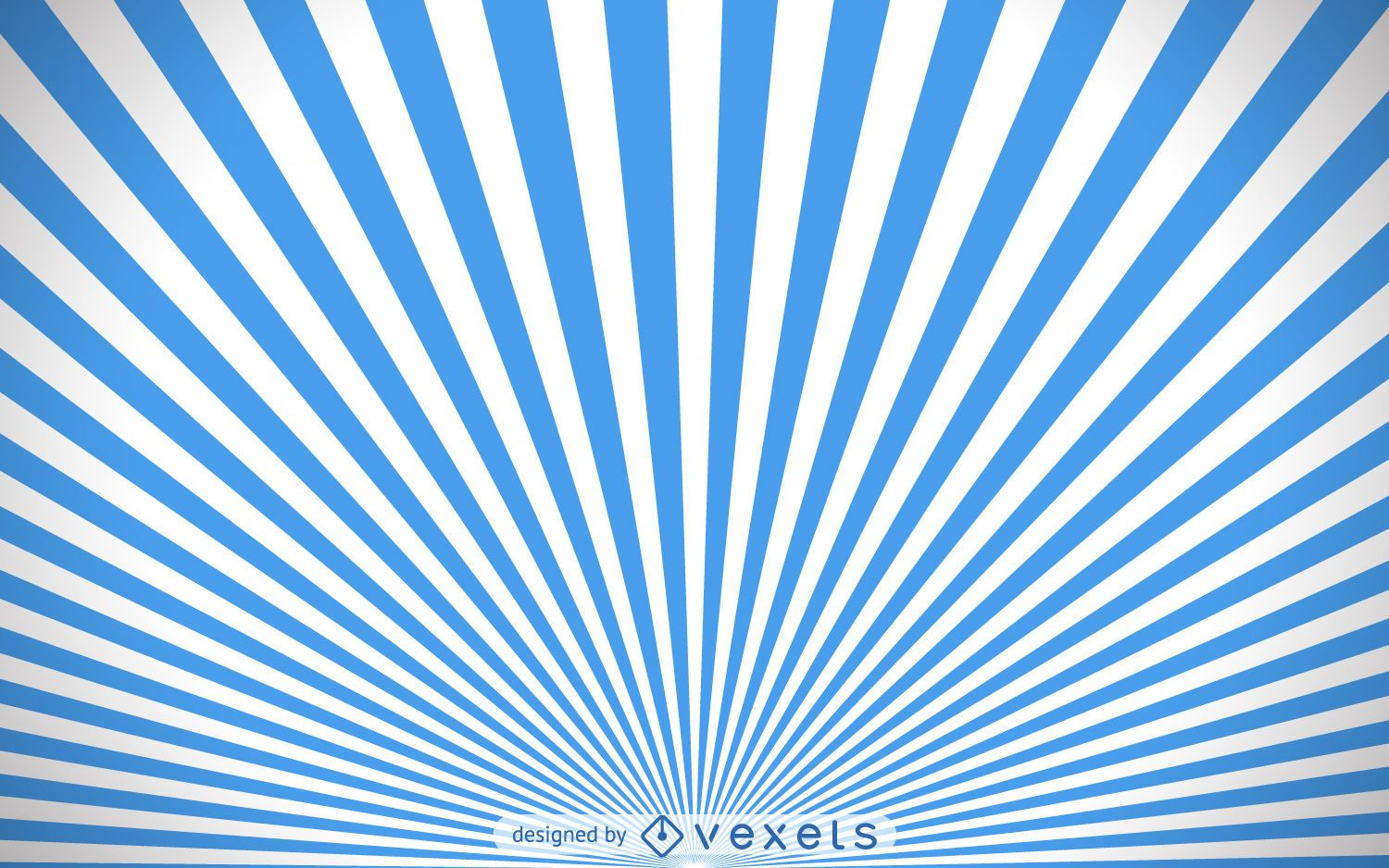 Blue and white starburst background - Vector download