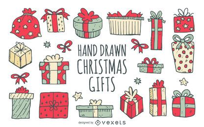 Dibujados los regalos de cumpleaños de Navidad