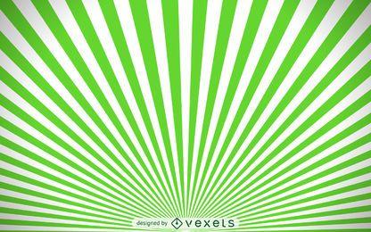Fondo de starburst verde y blanco