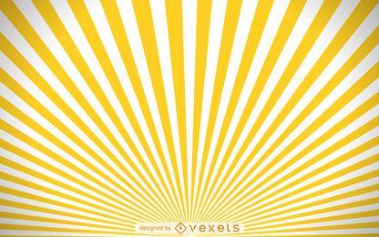 Gelber und weißer starburst Hintergrund