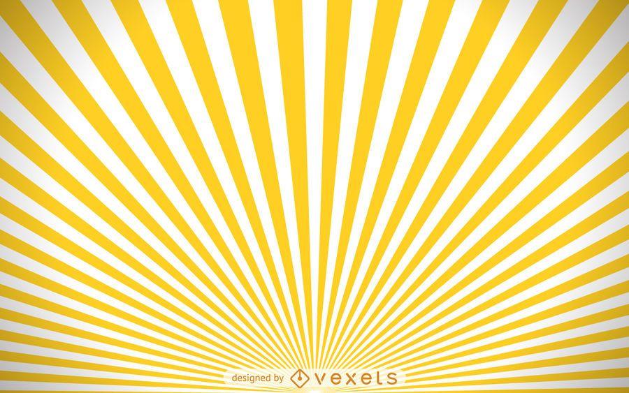 Yellow and white starburst background
