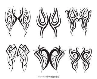 Pinstripe linha arte conjunto de 6