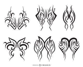Pinstripe line art set
