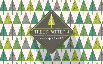 Patrón de árbol de pino hipster