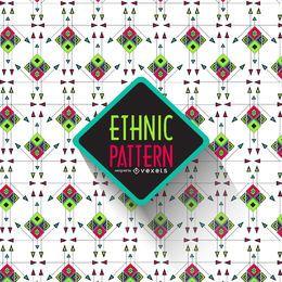 Brillante patrón étnico geométrico