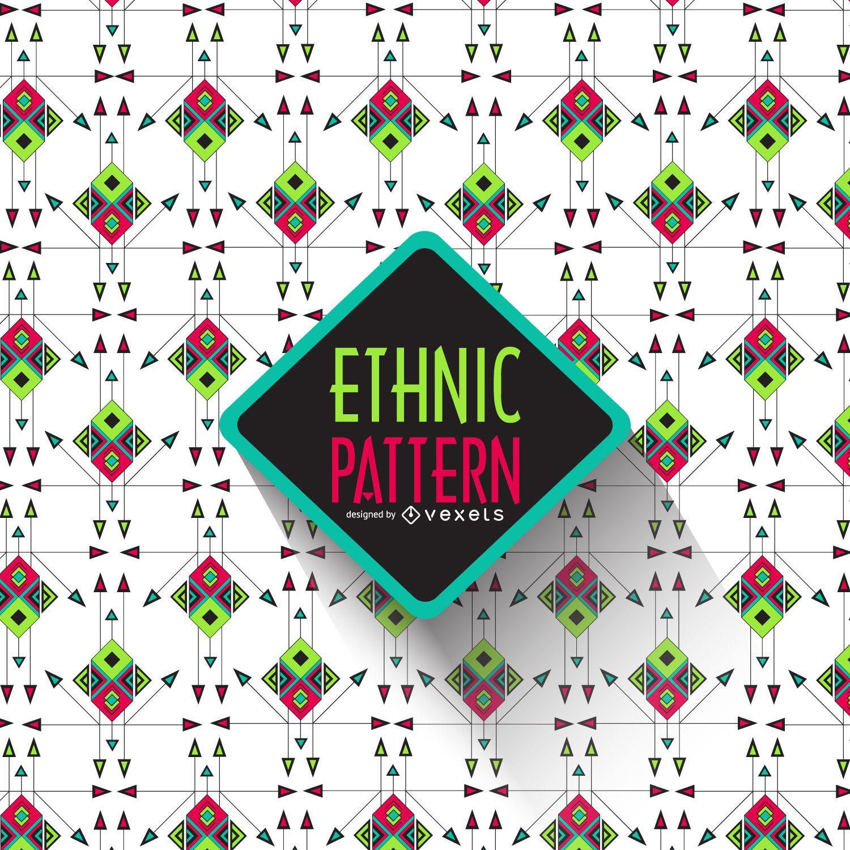 Patrón étnico geométrico brillante