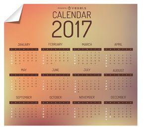 2017 calendario de diseño