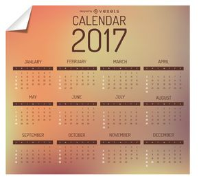 2017 Kalenderdesign