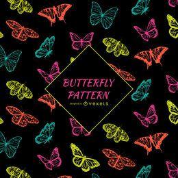 Padrão de borboleta de contraste