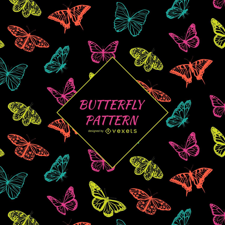Patrón de mariposa en contraste