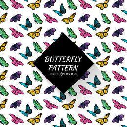Patrón de mariposa colorida