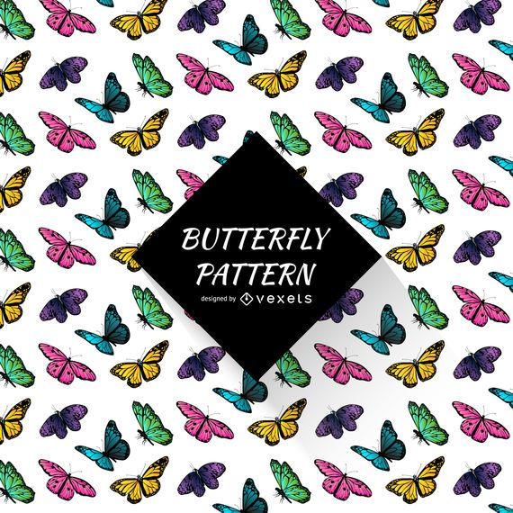 Patrón de mariposa de colores