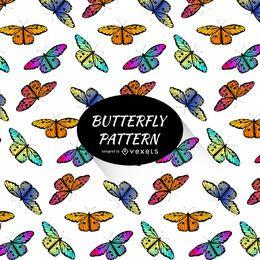 Padrão de borboleta colorida brilhante