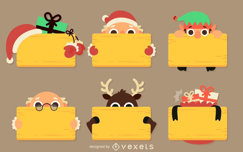 Signo de mensaje de Navidad plano