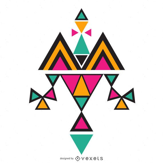 Flat colorful boho design