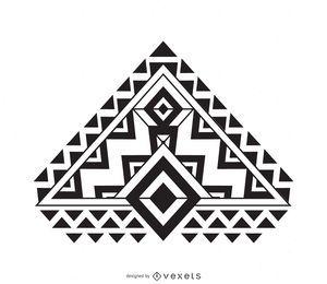 Diseño boho plano en blanco y negro