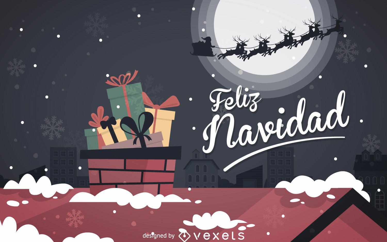 feliz navidad banner background