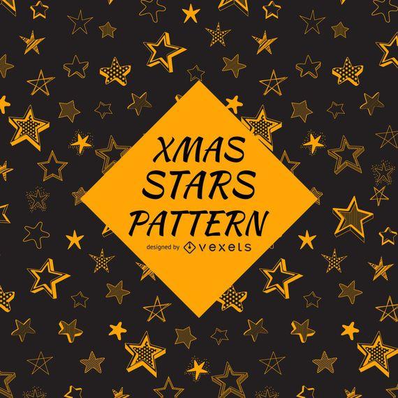 Patrón de estrellas bosquejado